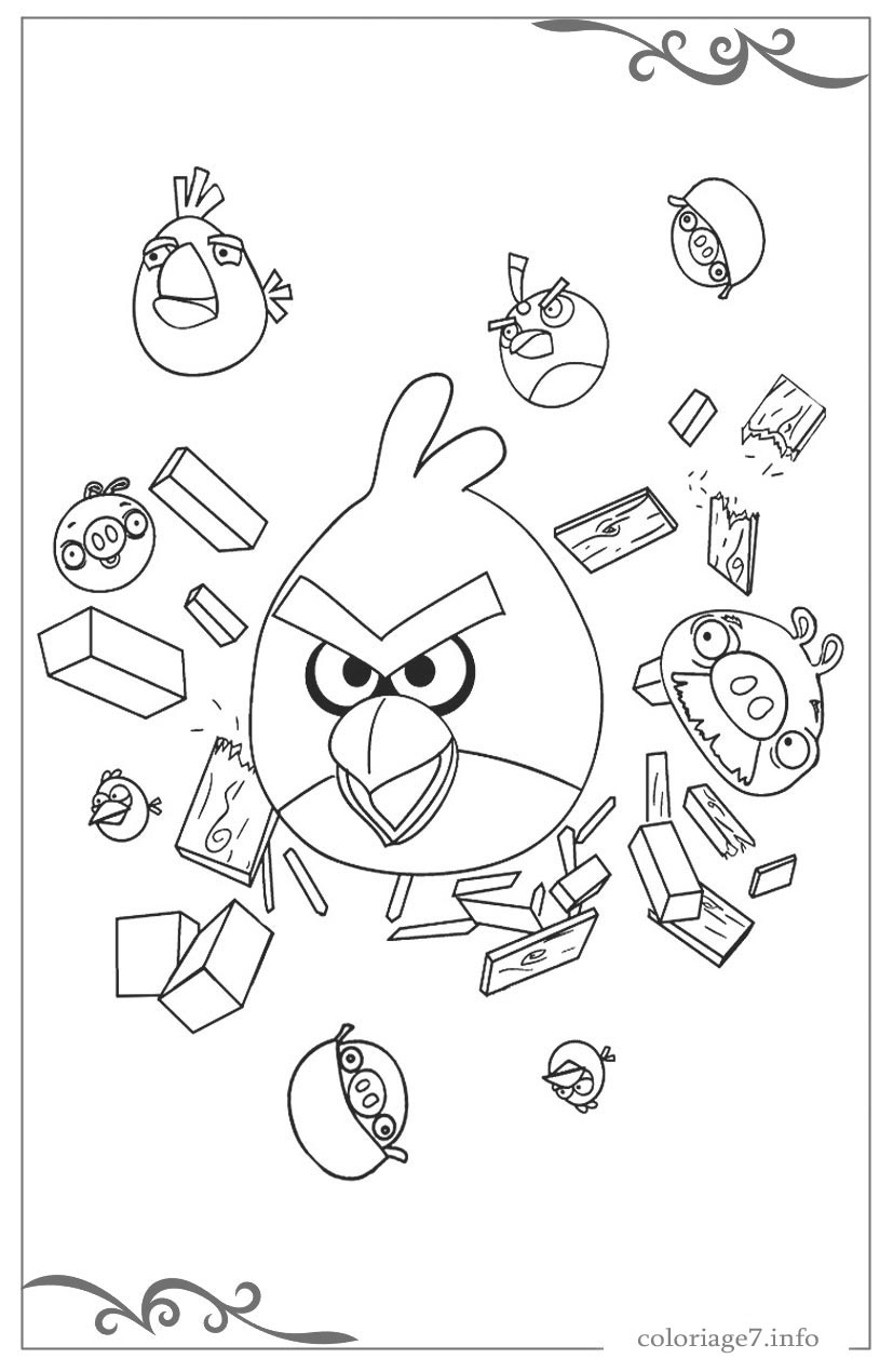 Angry birds coloriages imprimer gratuits - Angry bird coloriage a imprimer ...