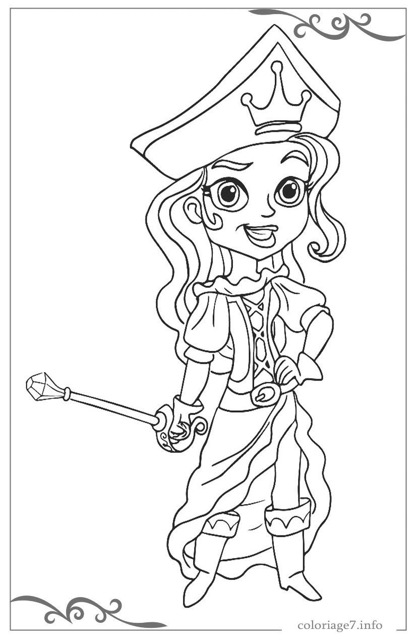 G nial coloriage de pirates fille - Coloriage fille pirate ...
